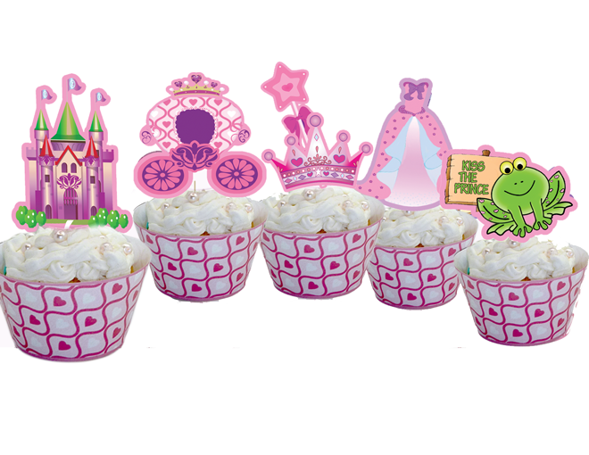 A Princess Dream Cupcake Toppers Wrappers