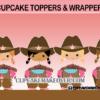 cute cowgirl birthday cupcakes