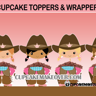 cute cowgirl birthday cupcakes