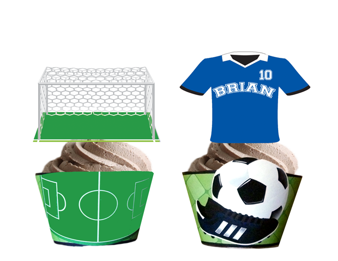 Soccer Cupcake Toppers Amp Wrappers Personalized