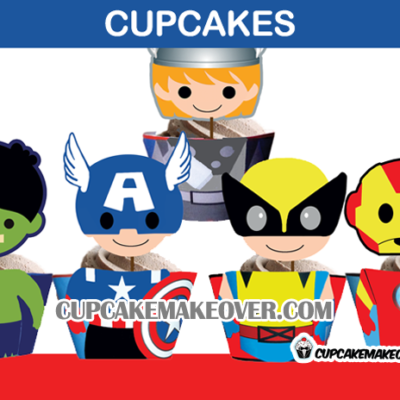 cute superhero avengers cupcakes birthday