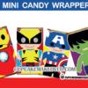 cute superhero avengers mini candy labels