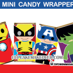 cute superhero avengers mini candy labels