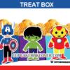cute SUPERHERO avengers POPCORN treat box