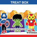 cute SUPERHERO avengers POPCORN treat box