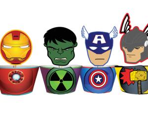 Avengers Superhero Cupcakes