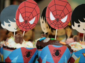 printable superhero cupcakes