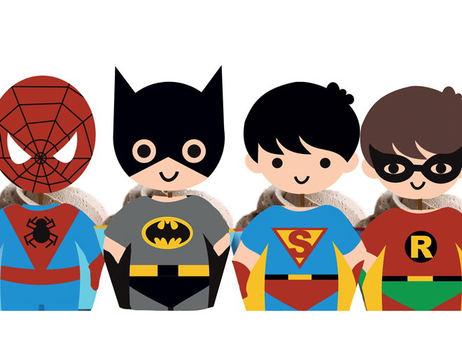 This is a graphic of Free Printable Cupcake Wrappers and Toppers With Spiderman pertaining to easy