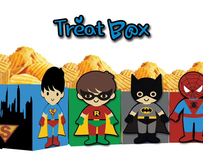Home » Party Supplies » Treat Boxes » Superhero Kids Popcorn Treat