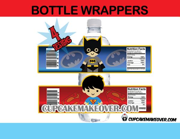Superhero Kids Water Bottle Labels Printables