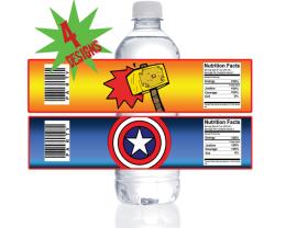 avengers water bottle wrappers