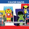 Cute SUPERHERO Avengers FAVOR BAGS