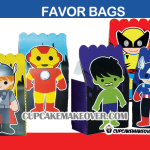Cute SUPERHERO Avengers FAVOR BAGS