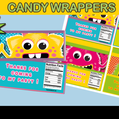 monster candy wrappers