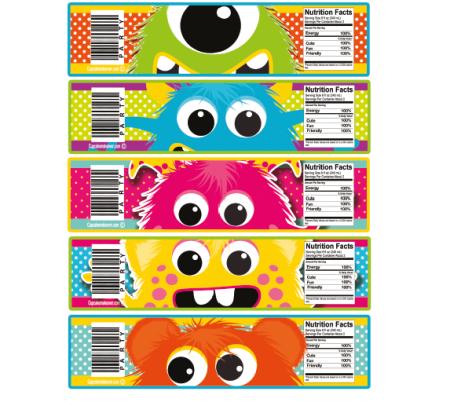 monster mania bottle labels