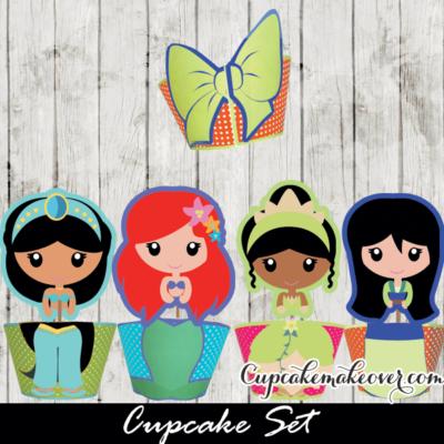 disney princess cupcakes birthday ideas ariel jasmin mulan tiana