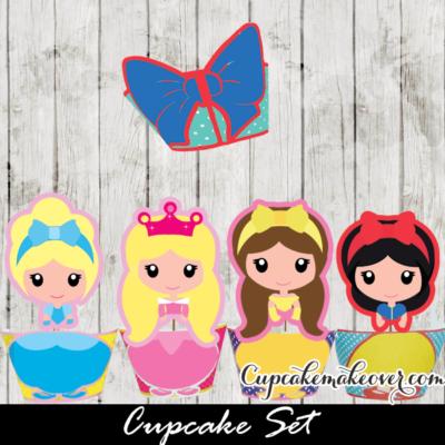 disney princess cupcakes birthday ideas toppers wrappers aurora belle cinderella snow white