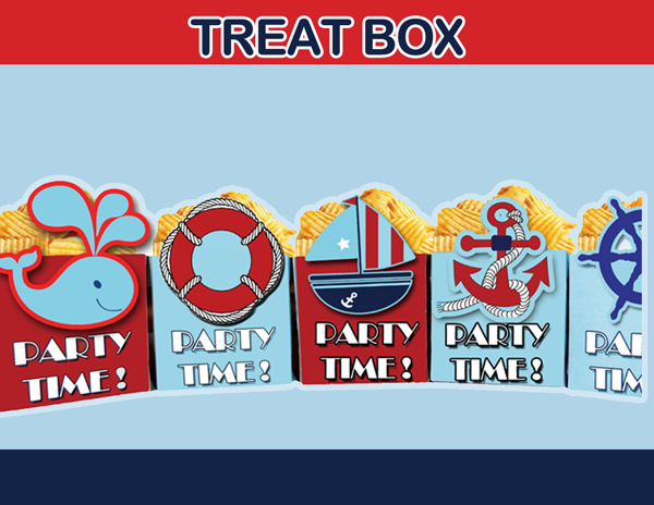 nautical popcorn box