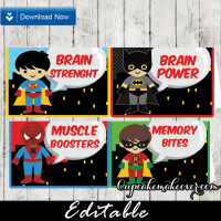74-Superhero-Kids-Editable-Food-Labels