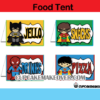 superhero food tags