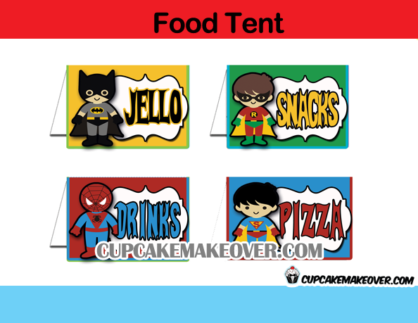 Superhero Kids Party Package Instant Download