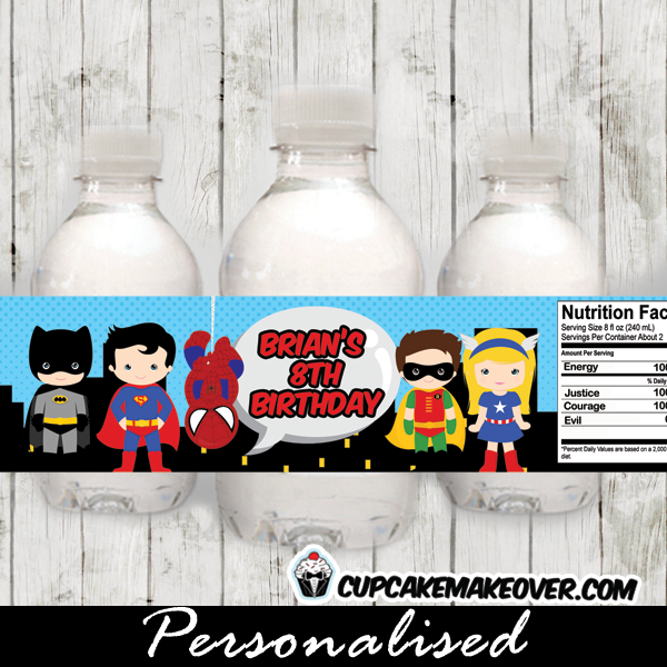 comic book bottle wraps labels
