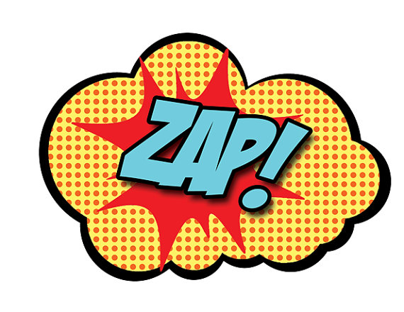 zap photo props comic super hero