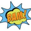 bam superhero comic buble