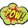 pow comic superhero photo props