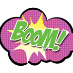 boom pink photo props signs