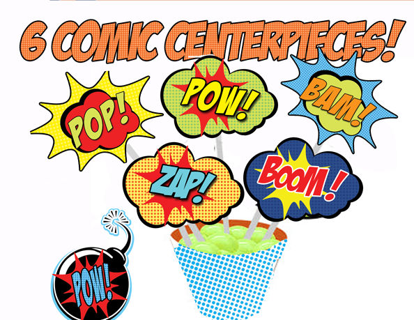 Home » View All Themes » Superhero Comic » Superhero Comic Signs
