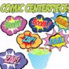 superhero party circles cupcake decorations