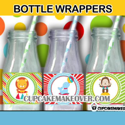 cute printable carnival bottle labels