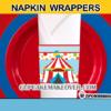 boy party cute circus napkin rings