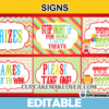 cute circus printables party signs editable