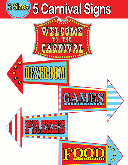 It's just a picture of Agile Printable Carnival Signs