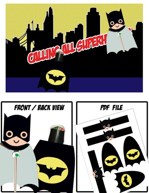 Superhero Lollipops Batman