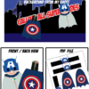superhero party captain america lollipop