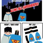 superhero party superman lollipop
