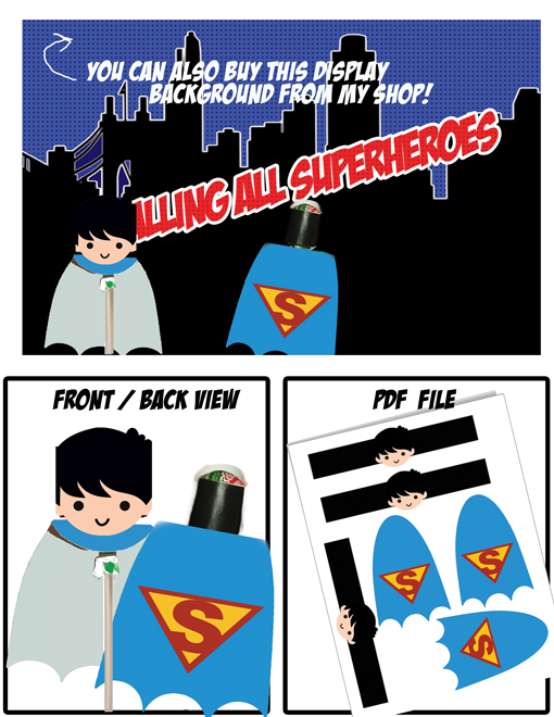 superhero party superman lollipop