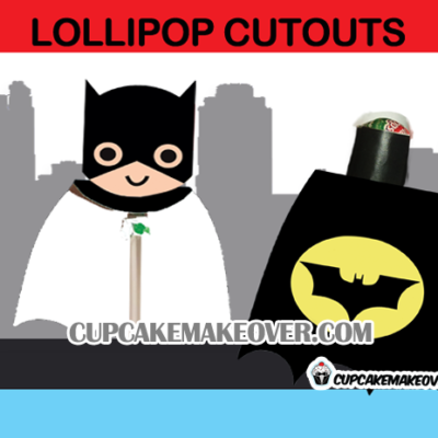 cute batman superhero lollipop cape mask