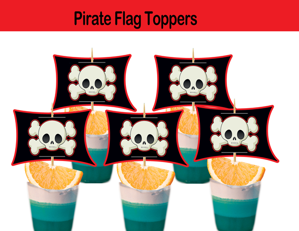 pirate flag toppers