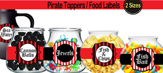 Pirate food tags