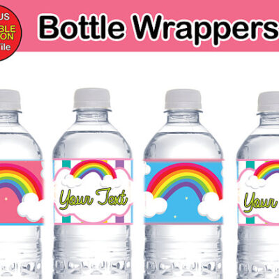 ranbow bottle labels