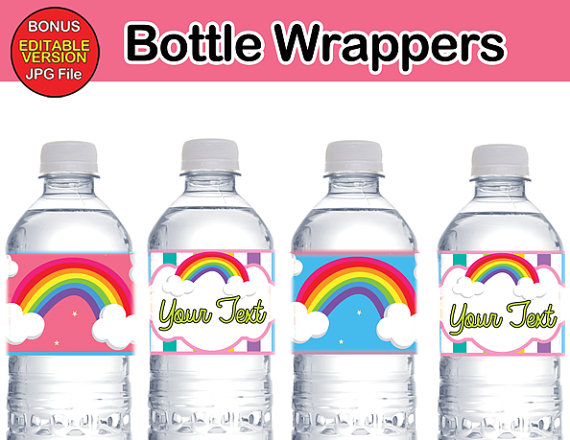 ranbow bottle labels