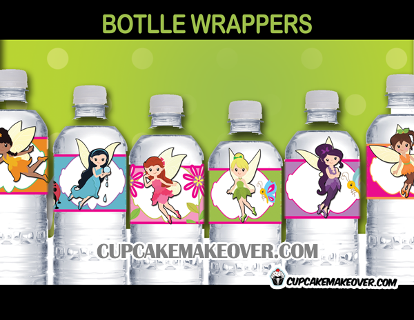 cute tinkerbell bottle labels