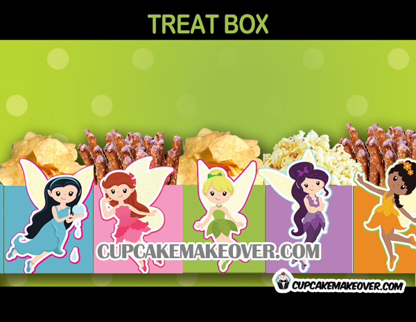 cute Fairy Party Favor popcorn Box