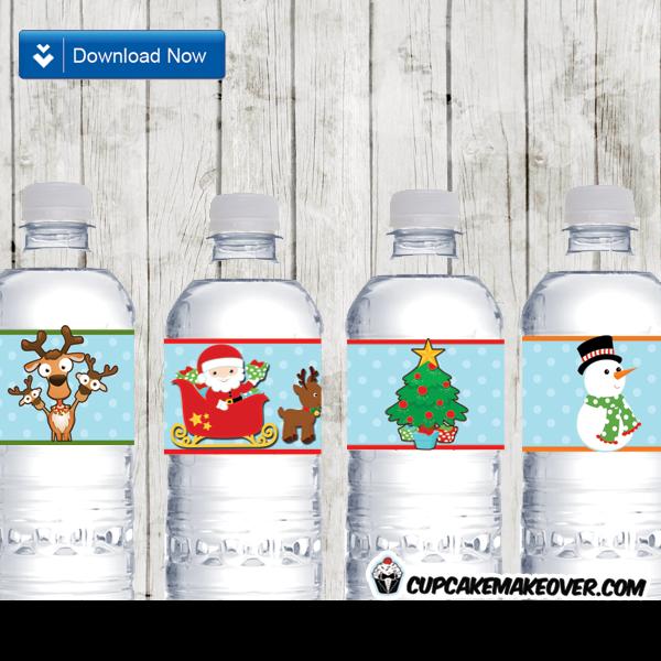 printable christmas bottle labels decorations