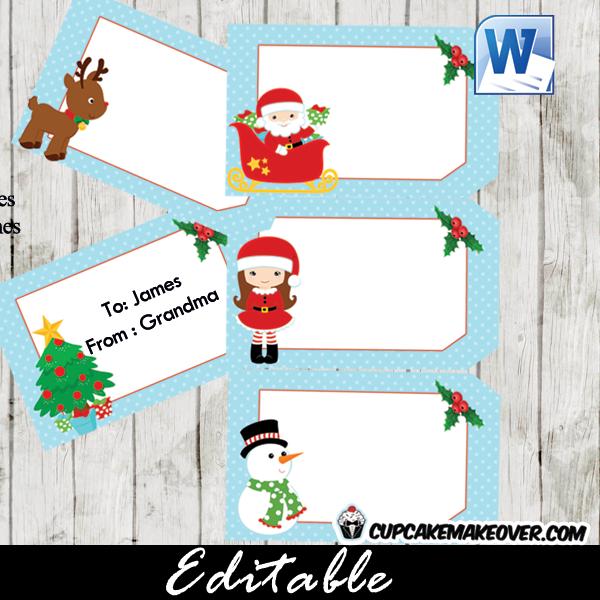 Printable Christmas gift labels gift tags