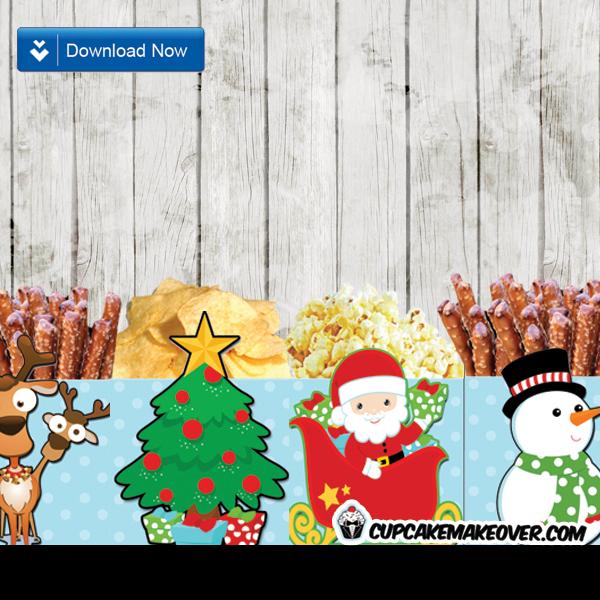 printable christmas favor box treats